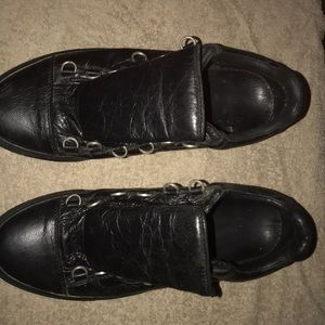 Balenciaga Black Crinkle Leather